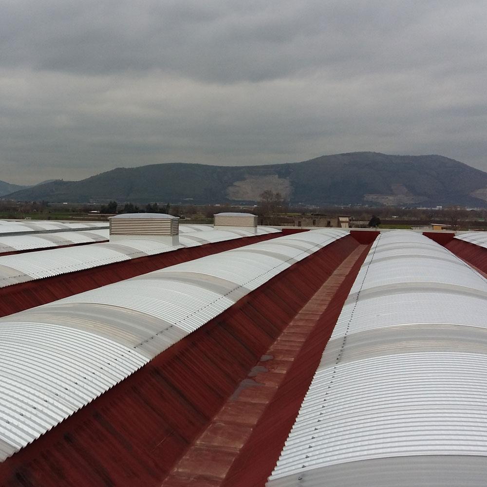 Cantiere Pomilia Marigliano Napoli lastre metalliche curve sifracoperture