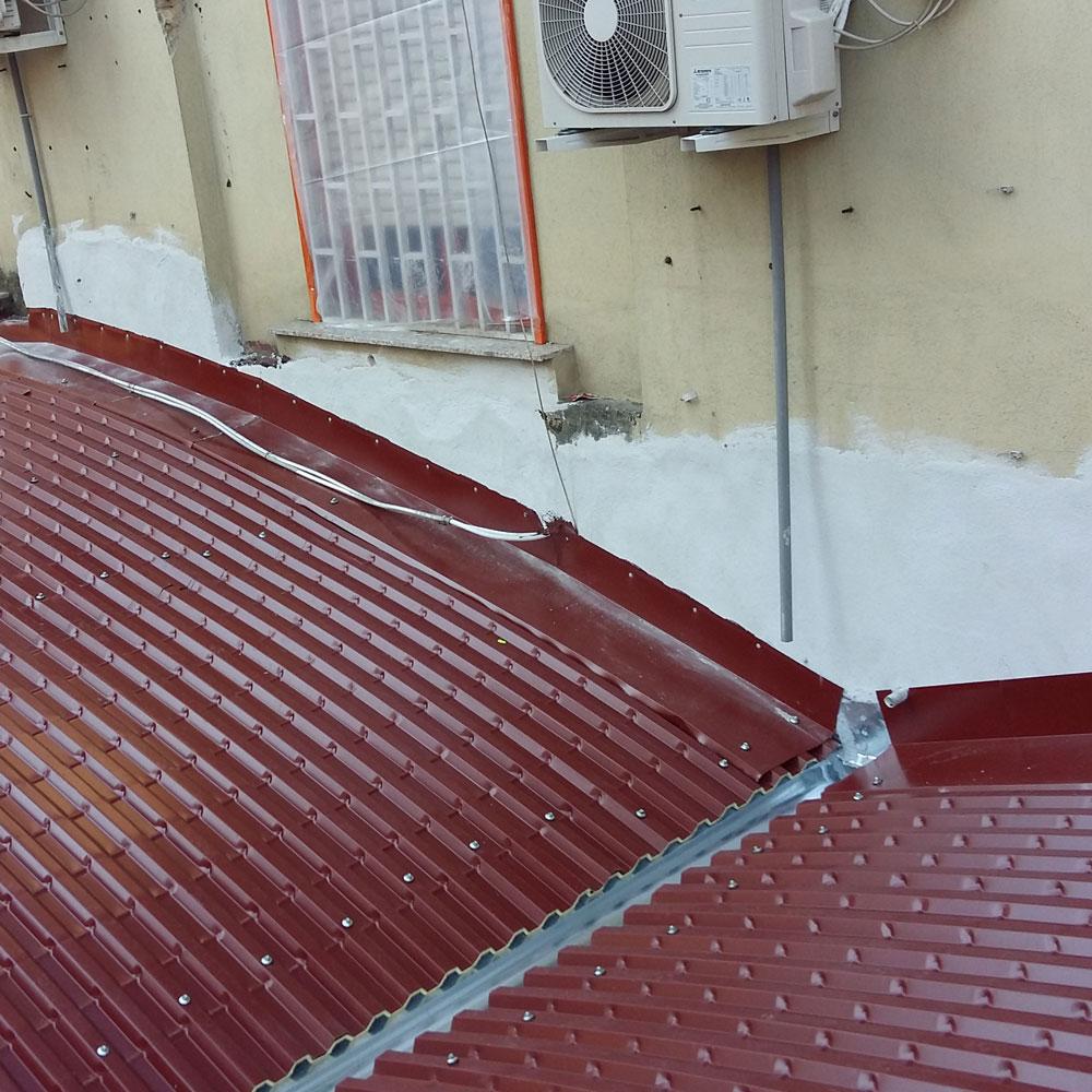 Cantiere MD Napoli lastrametallica curva coibentata sifracoperture