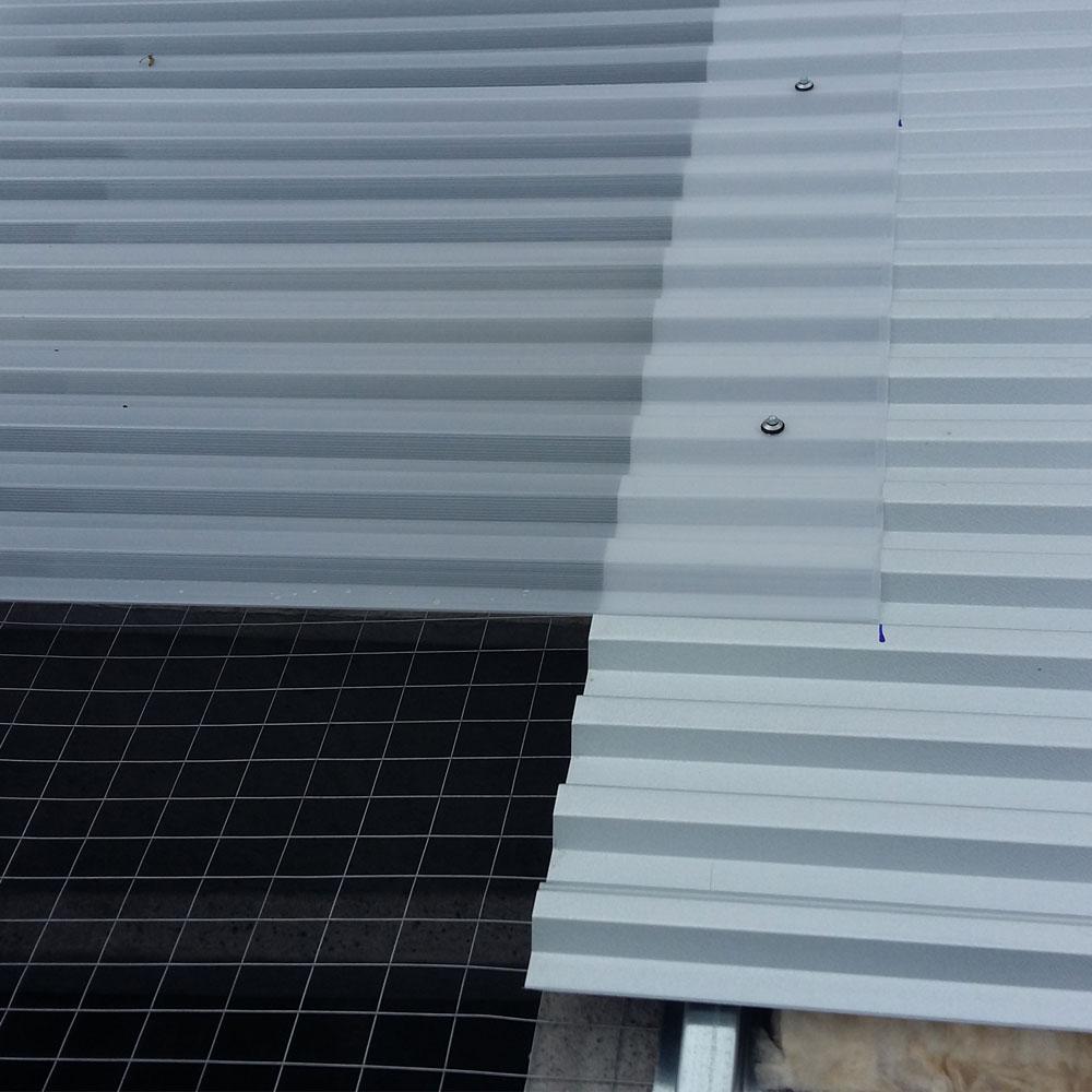 cantiere basile nola lastra metallica e lucernari dettaglio sifracoperture