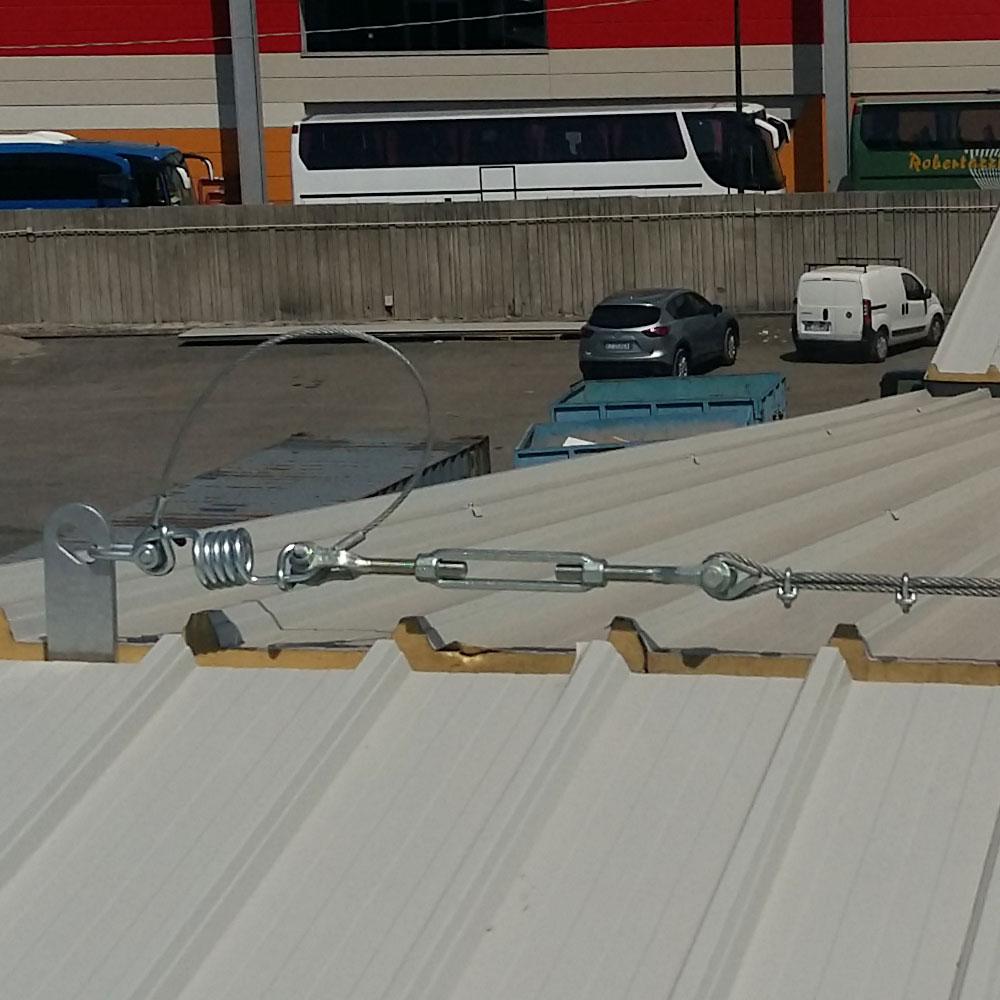 Installazione linee vita copertura sifra coperture