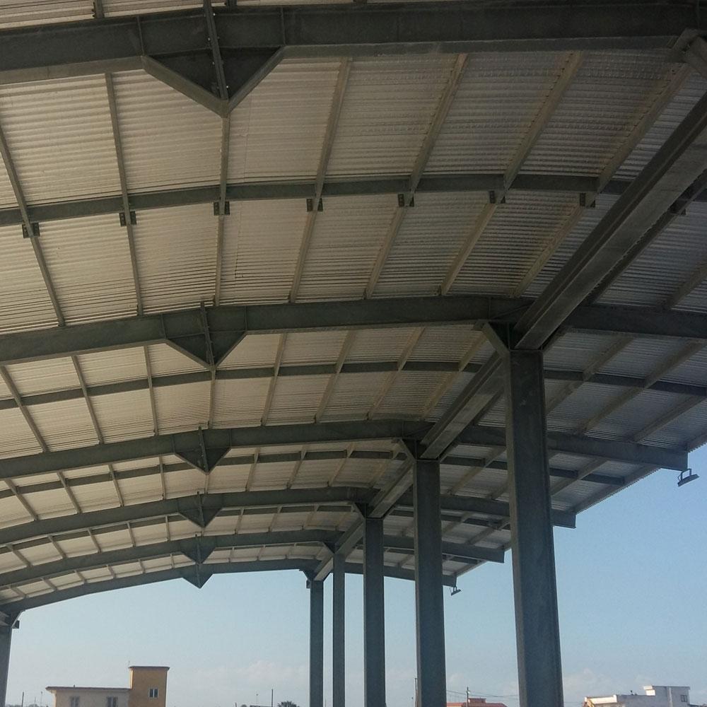 copertura in ferro con lastre metalliche curve sant'antonio abate salerno sifracoperture